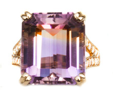 Ametrine & Diamond 18k Ring
