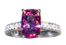 Malaya Garnet & Diamond 18K Ring