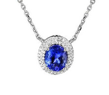 Tanzanite & Diamond 18K Necklace