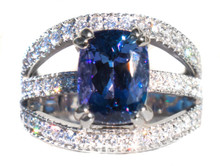 Tanzanite & Diamond 18K White Gold Ring