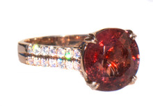 Spinel & Diamond 18K Ring