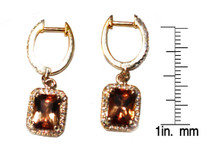 Rare Russian Imperial Topaz & Diamond Earrings