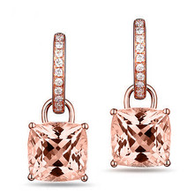 Morganite & Diamond 18K Dangle Earrings