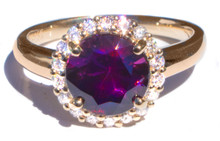 Purple Spinel & Diamond 18K Ring
