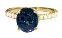 Blue Spinel & Diamond 18K Ring