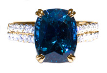Rare Color Change Spinel and Diamond 18k Ring