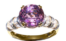 Bubblegum Pink Spinel & Diamond 18K Ring