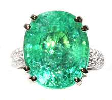 10 ct Paraiba Tourmaline & Diamond Ring