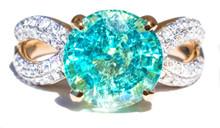 Rare Paraiba Tourmaline & Diamond 18K Ring