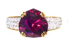 Pyralspite Garnet & Diamond 18k Ring