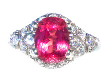 RARE Mahenge Spinel & Diamond 18k Ring