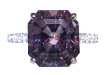 6.5 ct Spinel & Diamond 18k White Gold Ring