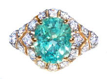 Rare Paraiba Tourmaline & Diamond Ring