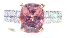 Pink Spinel & Diamond 18K Ring