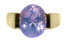 Rare Purple Pearl Amethyst Solid 18K Ring