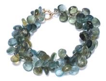 Aquamarine Bracelet 14K