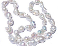 Large AAA Freshwater Baroque Pearl Necklace