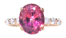 Rare Bekily Color Change Garnet & Diamond 18K Ring