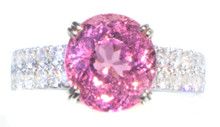 Pink Paraiba Tourmaline & Diamond 18K Ring