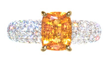 Fanta Mandarin Garnet & Diamond 18K Ring