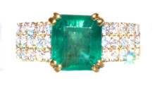 2.42 ct Emerald and Diamond 18K Ring