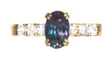 Brazilian Alexandrite and Diamond 18K Ring