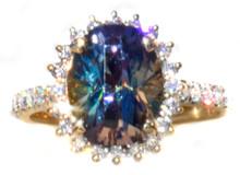 Unheated Tanzanite & Diamond Ring 18K