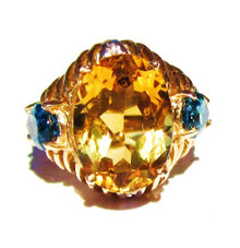 Citrine & Topaz Ring