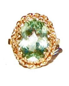 Green Amethyst 14K Ring