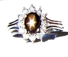 Black Star Sapphire & Diamond Ring