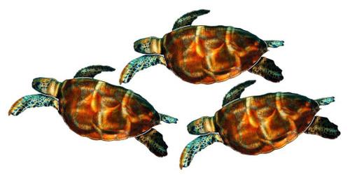 ... Sea Turtles Metal Wall Art. Image 1
