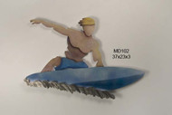 Surfer Dude Wall Sculpture