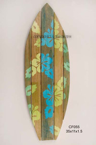 Surfboard w/Hibiscus - Tropical Wall Art
