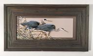"""Stalking Heron Horizontal Painting 22.5"""" x 12.5"""""""