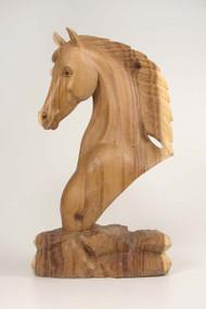 Stallion Head Carved Wood