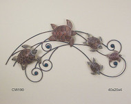 Sea Turtle Wave Metal Wall Art CW190