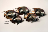 School of Butterfly Fish - Metal  Wall Sculpture