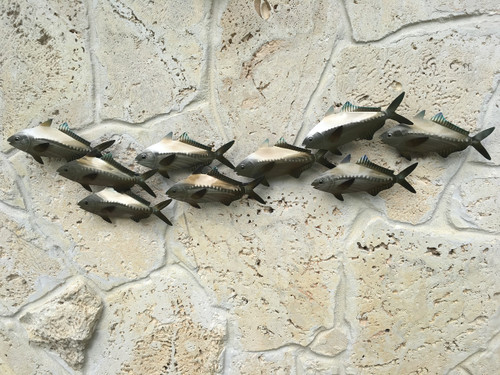 Sardines School Metal Wall Coastal Wall Art