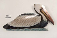 Pelican Swimming (patio safe) Metal Wall Art