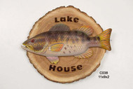 Lake House Bass Sign
