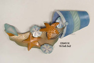 New Beach Pail w/Shells Metal Wall Art