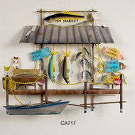 Fish Market Metal Wall Hanging