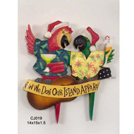 Christmas Parrots Sign