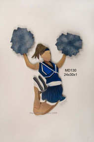 Cheerleader in Blue