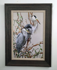 """Birds of a Feather Painting - Herons 32"""" x 24"""""""