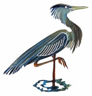 GREAT BLUE HERON METAL WALL ART