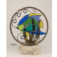 Angelfish Stainglass Candle