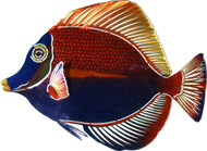 Tropical Kissing Fish Metal Wall Art Sculpture