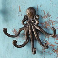 Cast Iron Octopus key Hooks