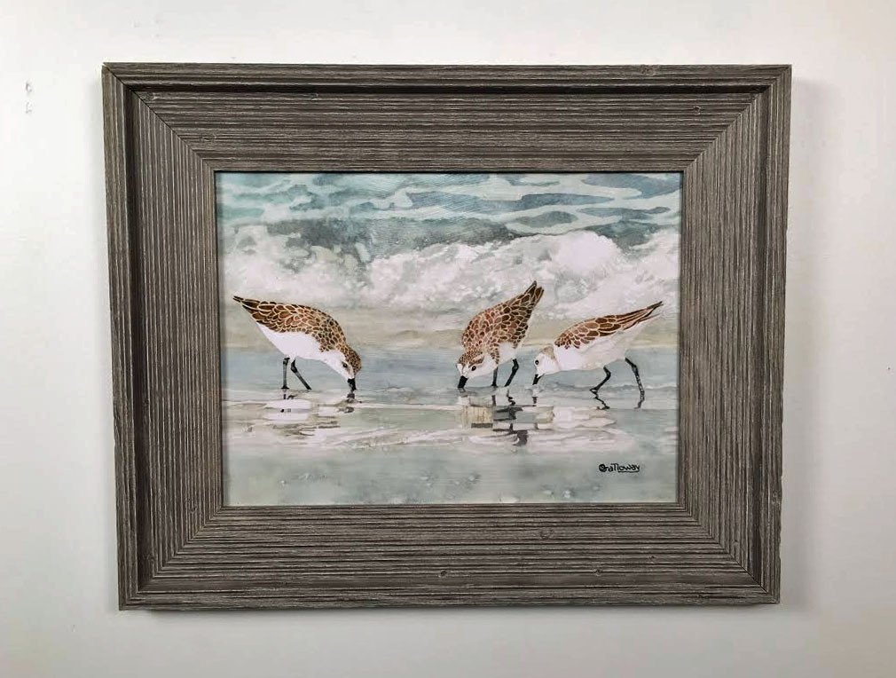 Sandpipers Framed Wall Art 19 x 21\